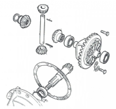Series III Differential Gears Axle Suffix C onwards